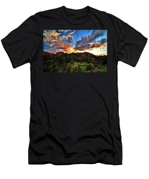 View From The Fence  Men's T-Shirt (Athletic Fit)