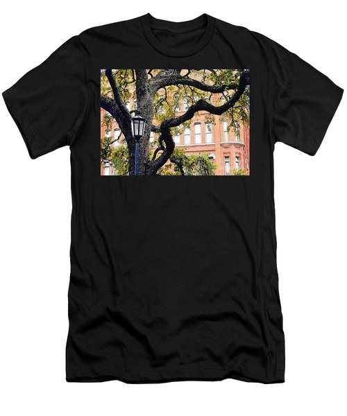 View From The Square Men's T-Shirt (Slim Fit) by Lydia Holly