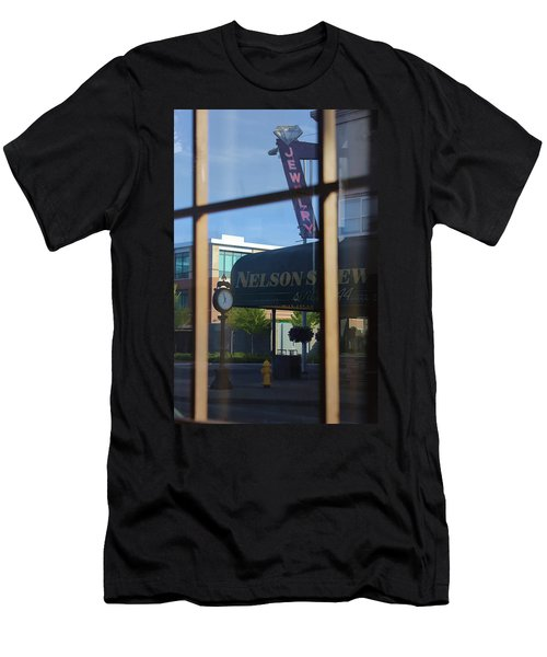 View From The Window Auburn Washington Men's T-Shirt (Slim Fit) by Cathy Anderson