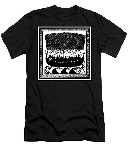 Men's T-Shirt (Slim Fit) featuring the digital art Viking Ancient Mariners by Vagabond Folk Art - Virginia Vivier