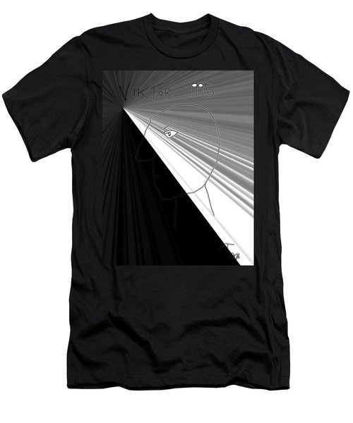 Men's T-Shirt (Slim Fit) featuring the photograph Viktor Rogy 1995 by Sir Josef - Social Critic - ART