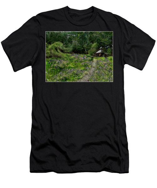 Men's T-Shirt (Athletic Fit) featuring the photograph A Lupine Tale  Vincents View by Wayne King
