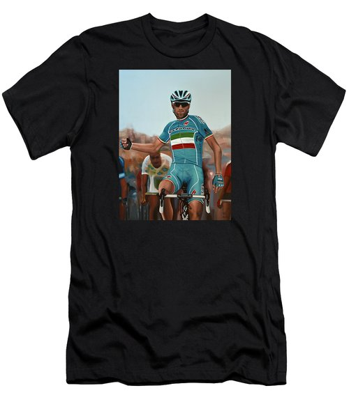 Vincenzo Nibali Painting Men's T-Shirt (Athletic Fit)