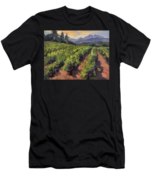 Vineyard At Dentelles Men's T-Shirt (Athletic Fit)