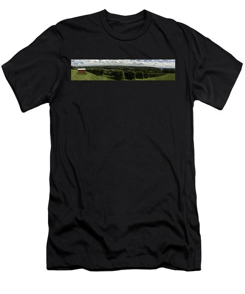 Vineyard On Keuka Lake Men's T-Shirt (Slim Fit) by Richard Engelbrecht