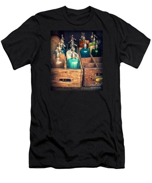Vintage Antique Seltzer Bottles Men's T-Shirt (Athletic Fit)