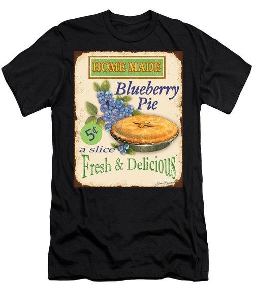 Vintage Blueberry Pie Sign Men's T-Shirt (Athletic Fit)