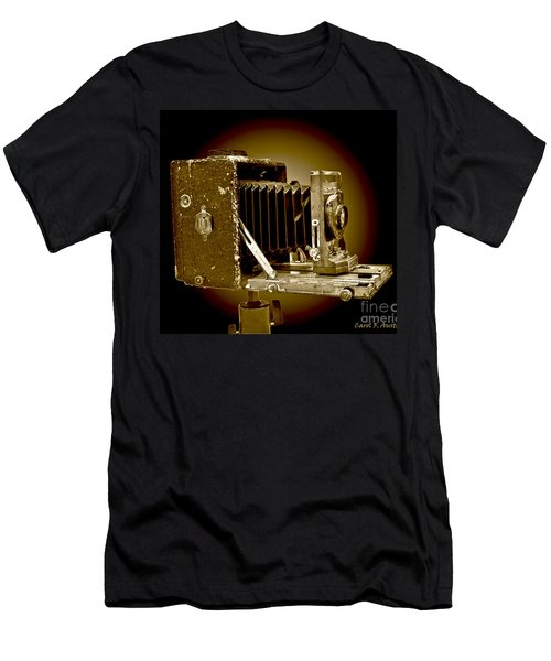Vintage Camera In Sepia Tones Men's T-Shirt (Slim Fit) by Carol F Austin