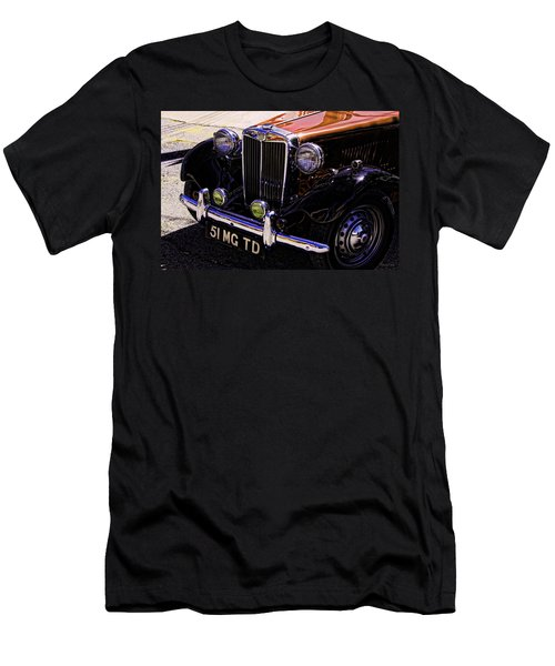 Vintage Car Art 51 Mg Td Copper Men's T-Shirt (Athletic Fit)