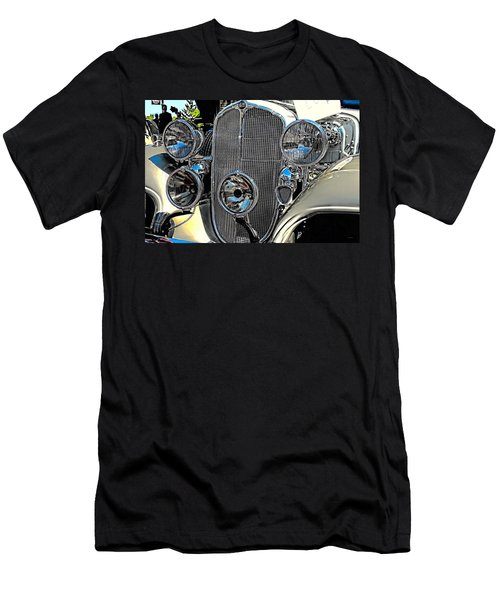 Vintage Car Art Buick Grill And Headlight Hdr Men's T-Shirt (Athletic Fit)