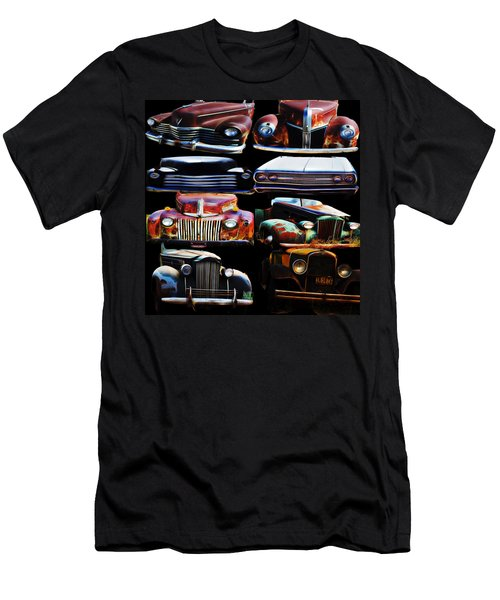 Vintage Cars Collage 2 Men's T-Shirt (Slim Fit) by Cathy Anderson