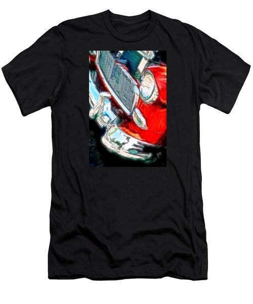 Vintage Chevy Art Alley Cat 3 Red Men's T-Shirt (Athletic Fit)