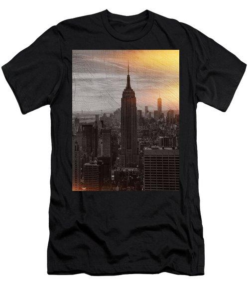 Vintage Empire State Building Men's T-Shirt (Athletic Fit)