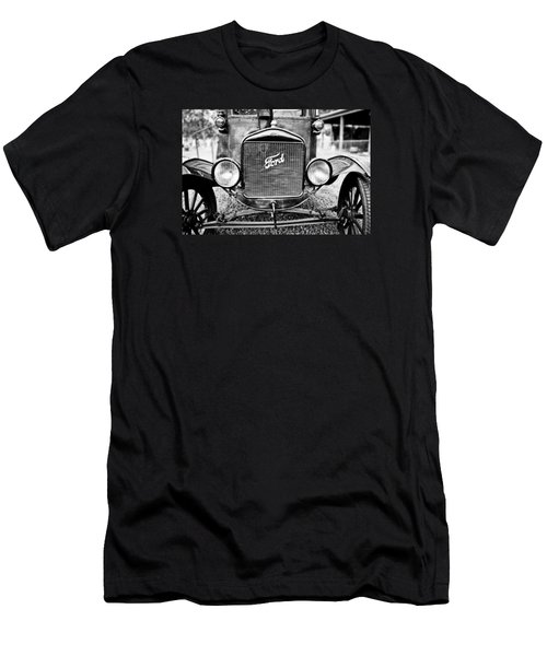 Vintage Ford In Black And White Men's T-Shirt (Slim Fit) by Colleen Kammerer