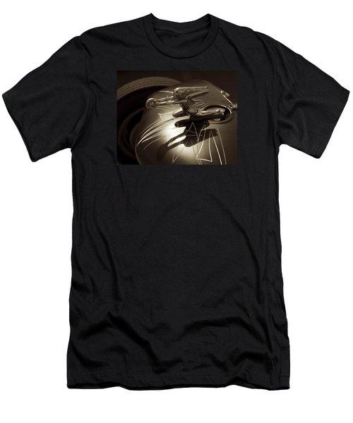 Vintage Hood Ornament - Sepia Art Decoprint Men's T-Shirt (Athletic Fit)