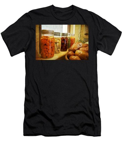 Vintage Jars On A Kitchen Window Men's T-Shirt (Athletic Fit)