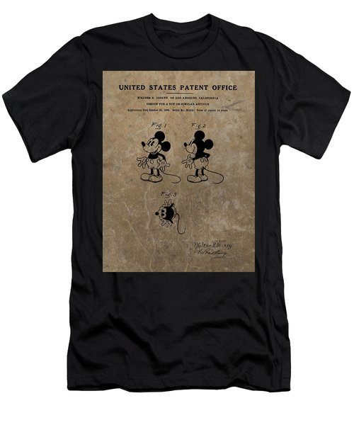 Vintage Mickey Mouse Patent Men's T-Shirt (Athletic Fit)