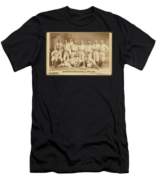 Vintage Photo Of Metropolitan Baseball Nine Team In 1882 Men's T-Shirt (Athletic Fit)