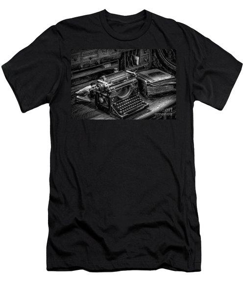 Vintage Typewriter Men's T-Shirt (Athletic Fit)