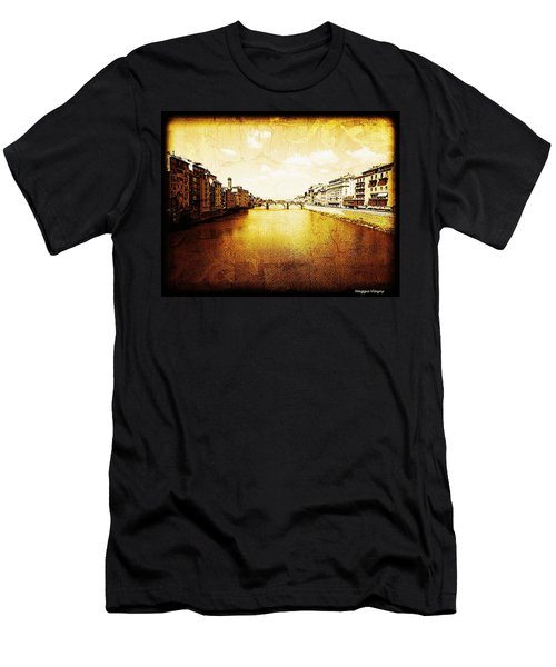 Vintage View Of River Arno Men's T-Shirt (Athletic Fit)