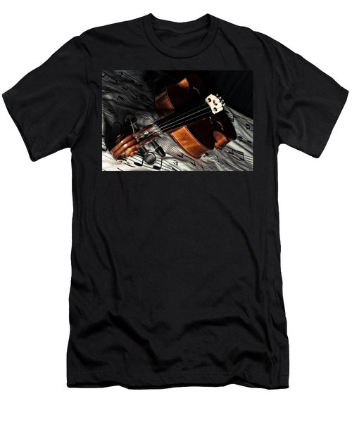 Vintage Violin Men's T-Shirt (Slim Fit) by Mike Santis