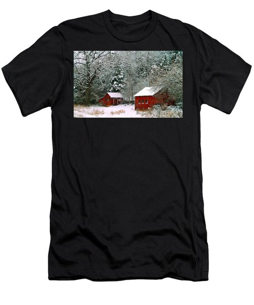 Vintage Winter Barn  Men's T-Shirt (Athletic Fit)