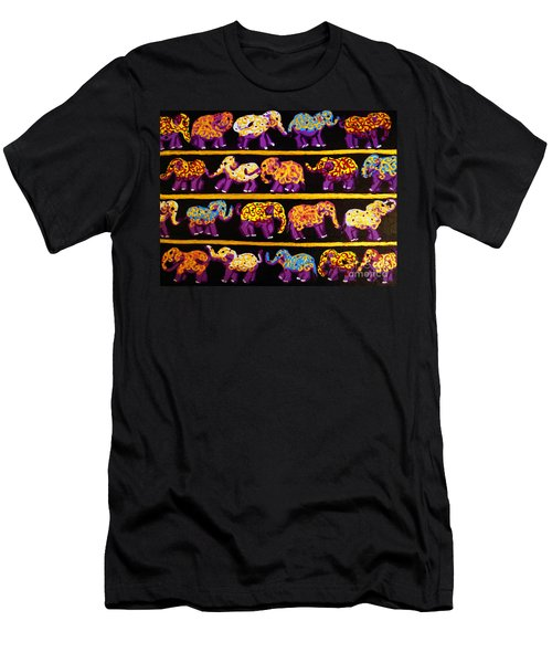 Violet Elephants Men's T-Shirt (Athletic Fit)