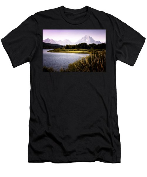 Violet Tetons Men's T-Shirt (Athletic Fit)