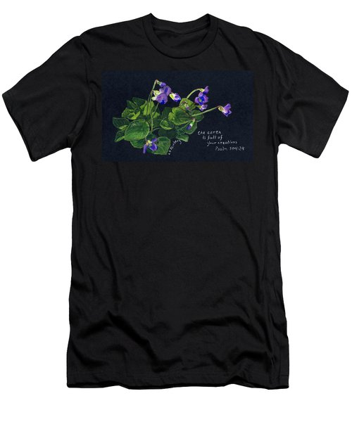 Violets And Psalm 104 Men's T-Shirt (Athletic Fit)