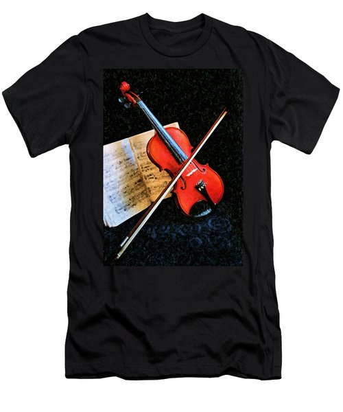 Violin Impression Redux Men's T-Shirt (Athletic Fit)