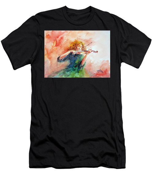 Violinist Men's T-Shirt (Athletic Fit)