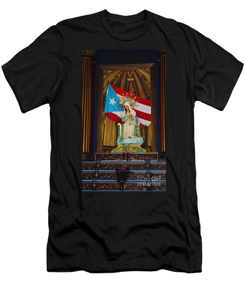 Virgin Mary In Church Men's T-Shirt (Athletic Fit)