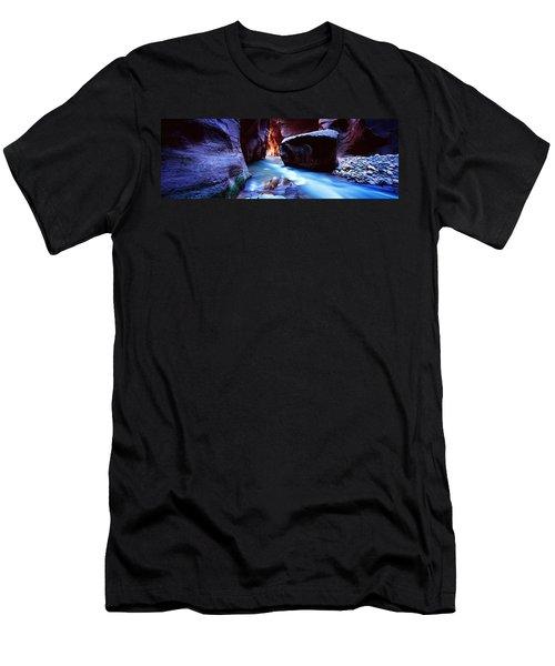 Virgin River At Zion National Park Men's T-Shirt (Athletic Fit)