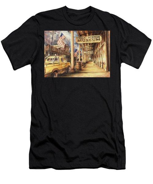 Virginia City Nevada - Western Art Painting Men's T-Shirt (Athletic Fit)
