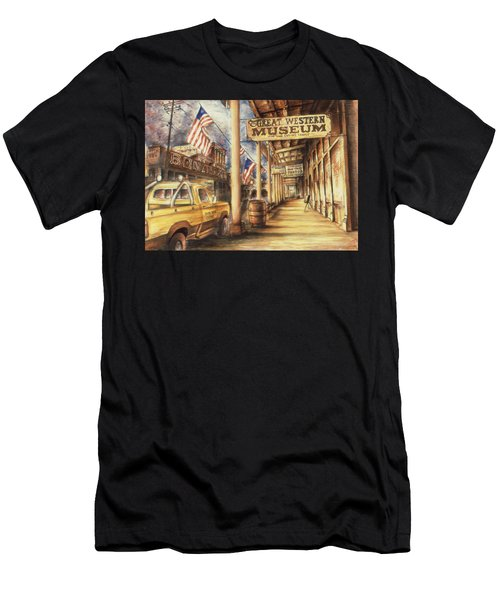 Virginia City Nevada - Western Art Painting Men's T-Shirt (Athletic Fit)