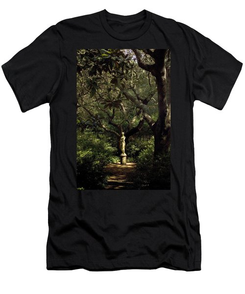 Men's T-Shirt (Slim Fit) featuring the photograph Virginia Dare Statue by Greg Reed
