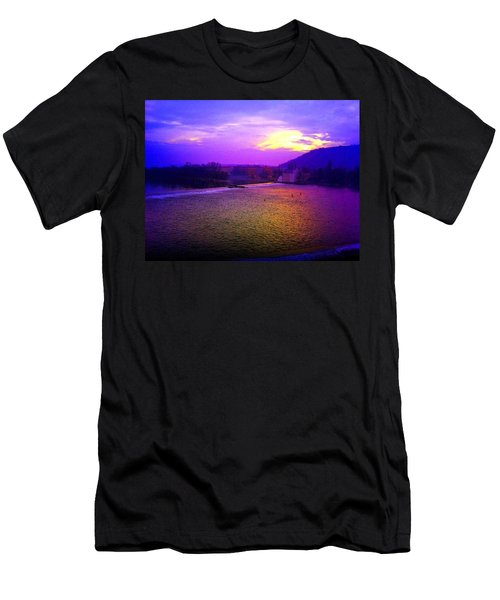 Vltava River Prague Sunset Men's T-Shirt (Athletic Fit)