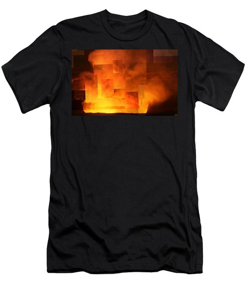 Volcanic Fire - Kilauea Caldera  Men's T-Shirt (Athletic Fit)