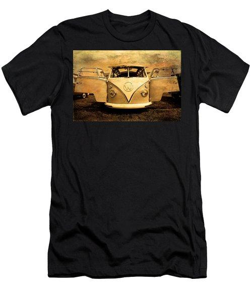 Flying Volkswagen Bus Men's T-Shirt (Athletic Fit)