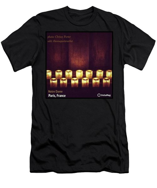 Votive Candles - Notre Dame Cathedral Men's T-Shirt (Athletic Fit)