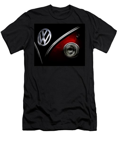 Vw Micro Bus Logo Men's T-Shirt (Slim Fit) by Steve McKinzie