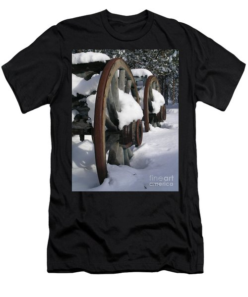 Men's T-Shirt (Slim Fit) featuring the photograph Wagons West by Jennifer Lake
