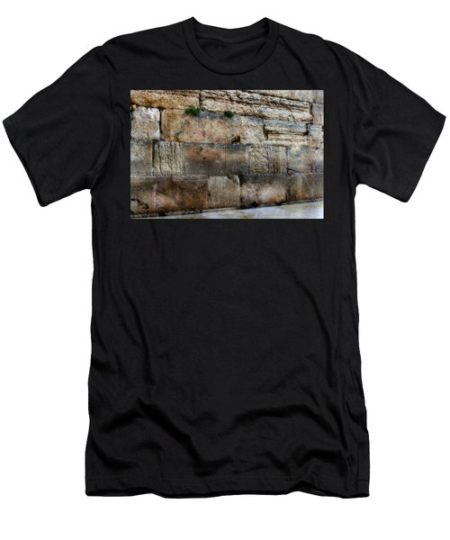 Men's T-Shirt (Slim Fit) featuring the photograph Wailing Wall In Israel by Doc Braham