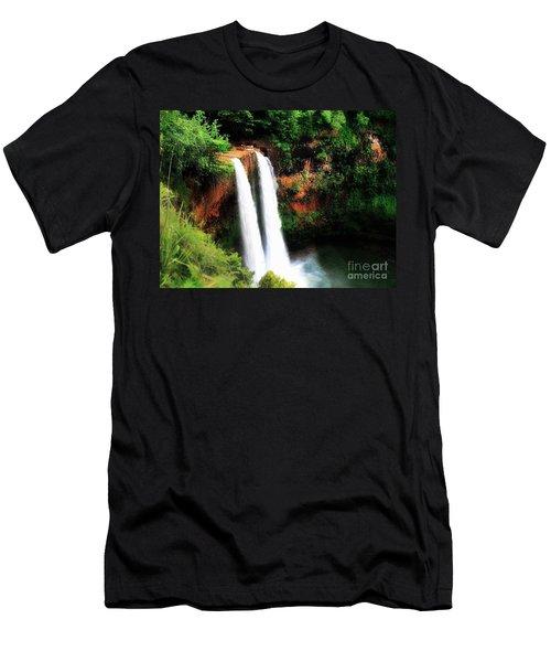 Wailua Falls Men's T-Shirt (Slim Fit) by Kristine Merc