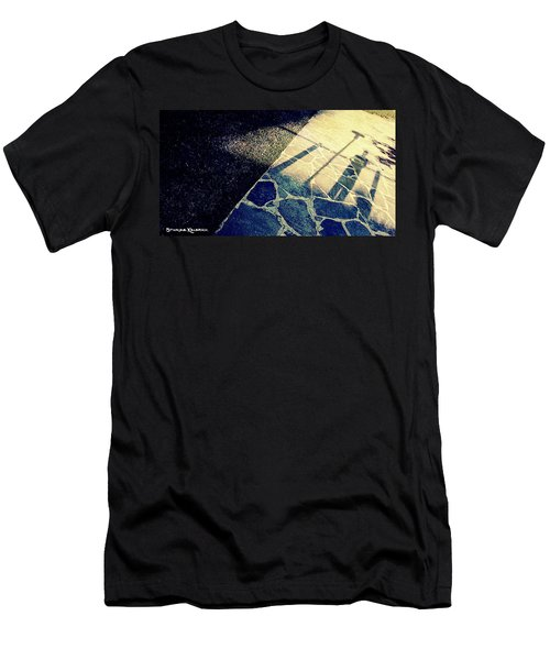 Men's T-Shirt (Athletic Fit) featuring the photograph Wait In The Shade by Stwayne Keubrick
