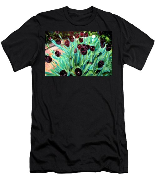 Walk Among The Tulips Men's T-Shirt (Athletic Fit)