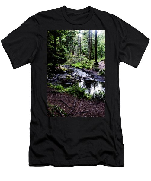 Walk By The Water Men's T-Shirt (Athletic Fit)