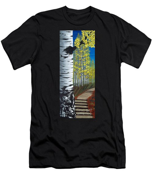 Walk Through Aspens Triptych 1 Men's T-Shirt (Athletic Fit)