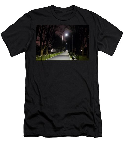 Walking Path Along The Reflecting Pool Men's T-Shirt (Athletic Fit)
