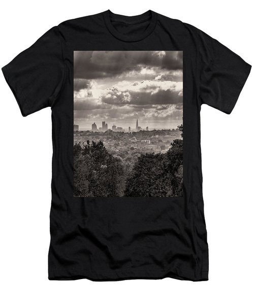 Men's T-Shirt (Slim Fit) featuring the photograph Walking The Sights by Lenny Carter
